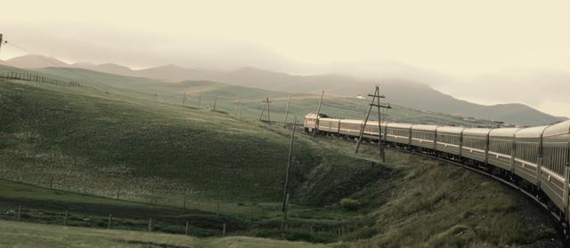 View from train on Trans-Siberian Railway