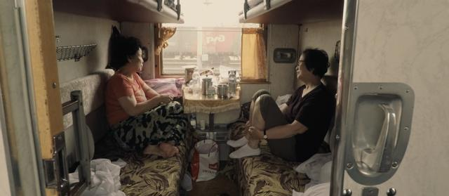 Two travellers in the Trans-Siberian train
