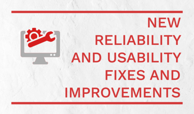 New Fixes and Improvements