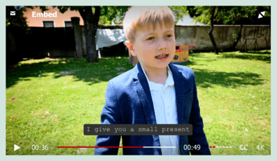 Setting Background Opacity for partially transparent FV Player Subtitles | New User Experience
