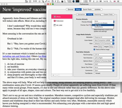 Mac OS X publishing tools for WordPress: MarsEdit, Byword, Drafts and iAWriter