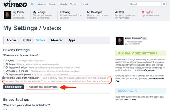 vimeo privacy 4 corr