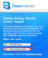 team viewer product selection